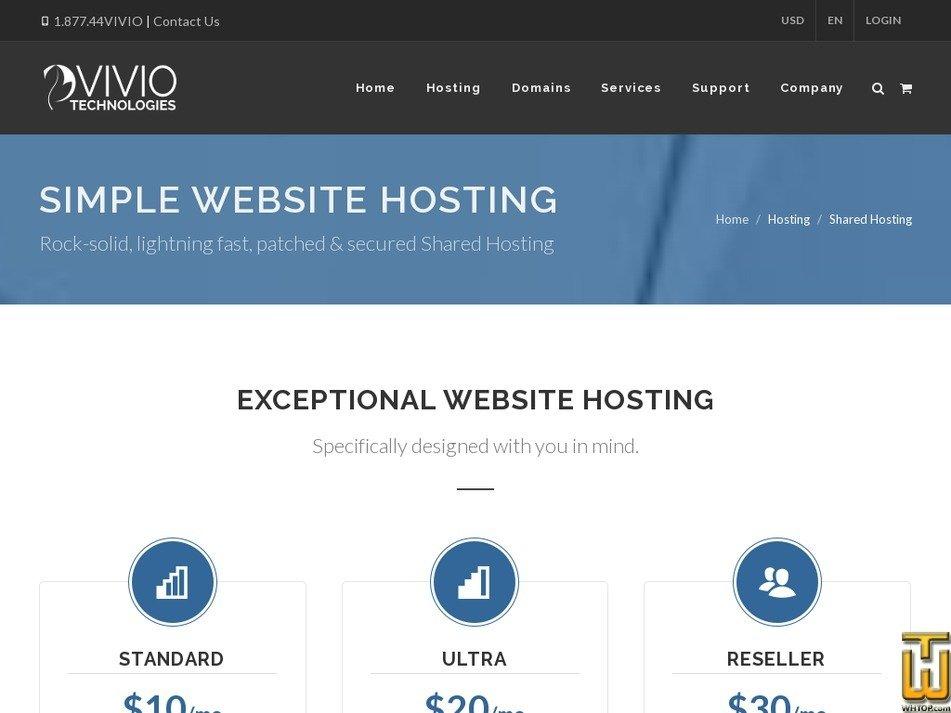 Screenshot of Shared Reseller from viviotech.net