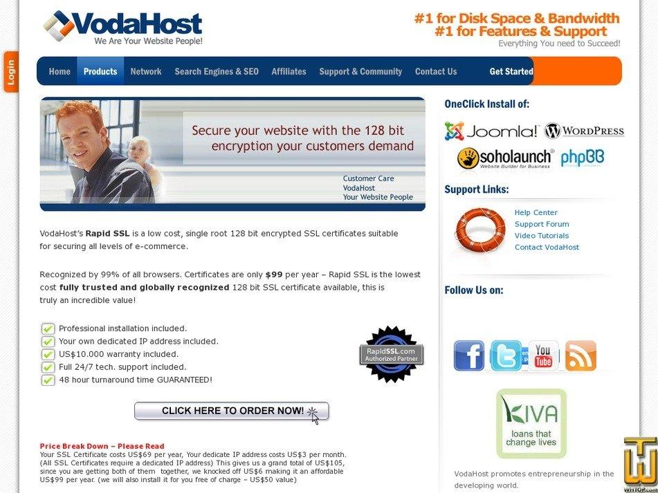 Rapid Ssl From Vodahost Usd 9900yr On Ssl Certificates
