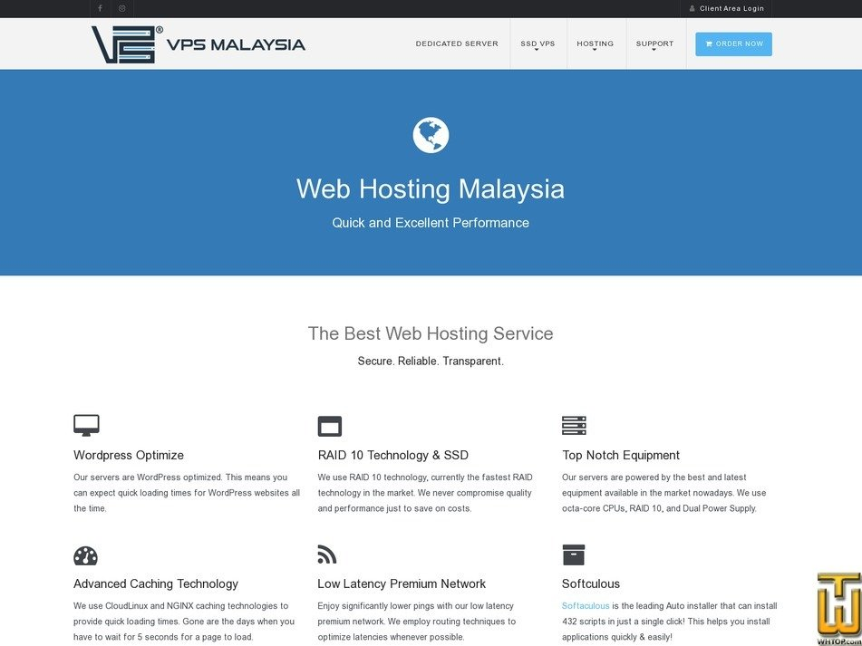 Screenshot of WEB HOSTING - STARTER from vpsmalaysia.com.my