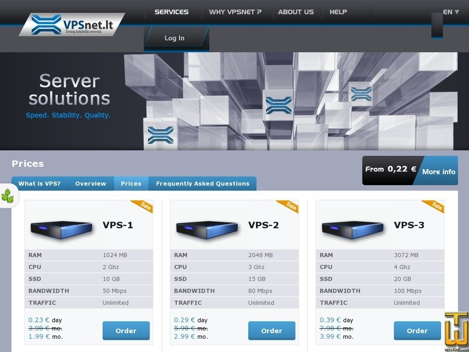 Screenshot of VPS-2 from vpsnet.lt