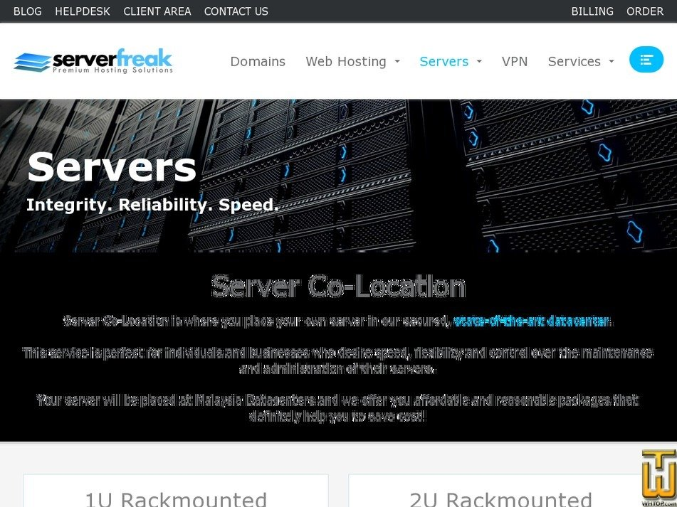screenshot of 1U Rackmounted from web-hosting.net.my