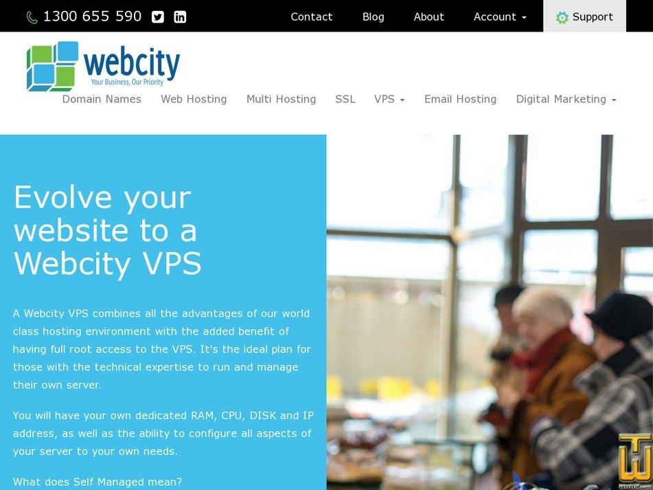Screenshot of VPS Pro from webcity.com.au