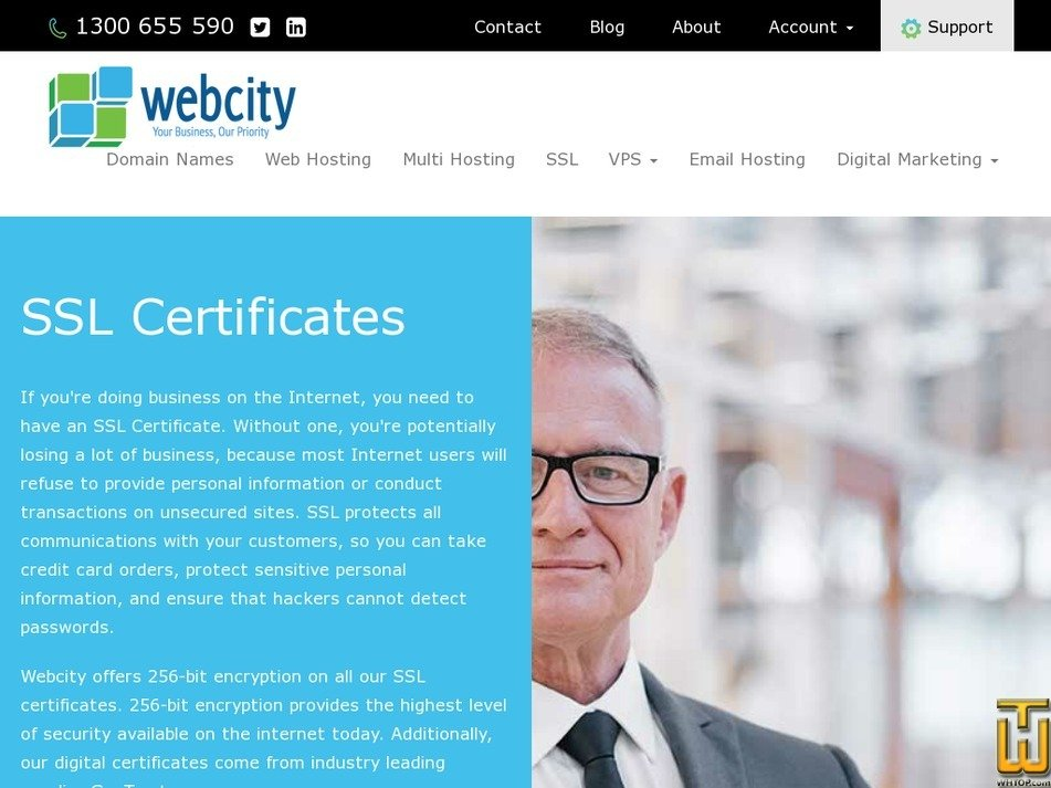 Screenshot of True Business ID from webcity.com.au