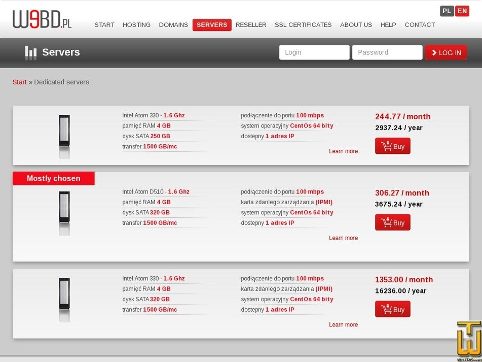Screenshot of Intel Atom 330 - 1.6 Ghz from webd.pl