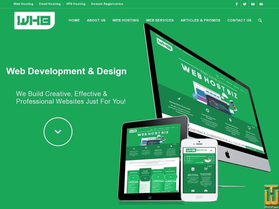 Screenshot of Business Web Design from webhostbiz.com.ph