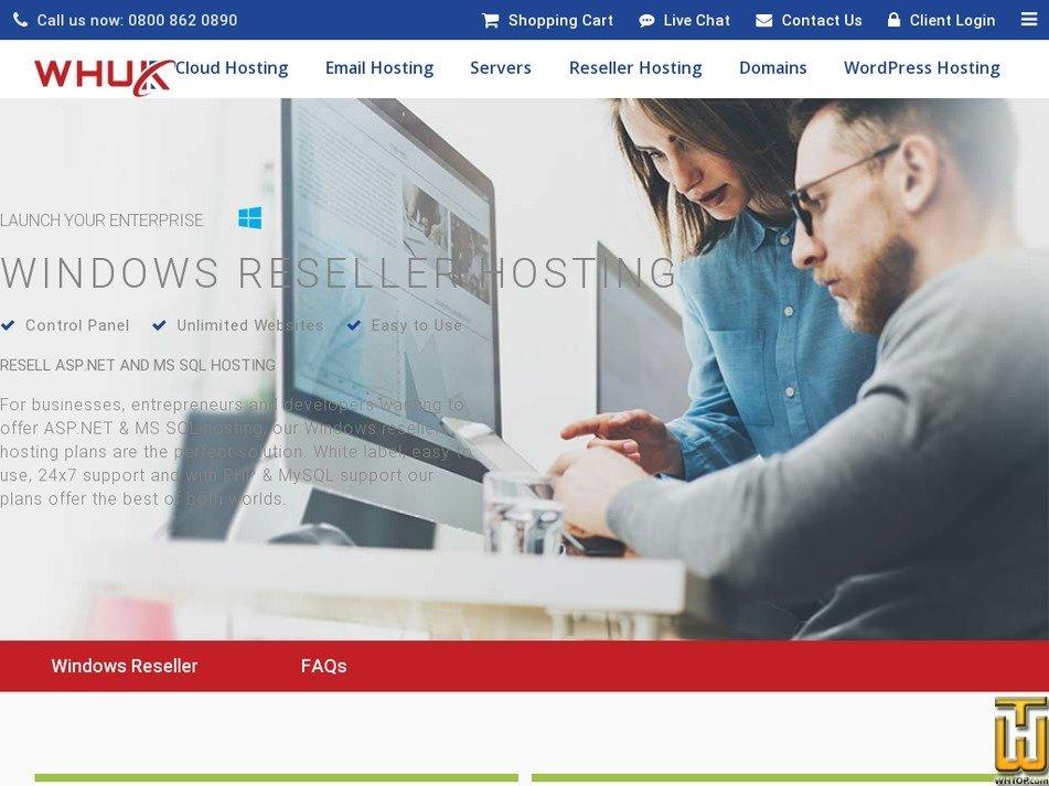 Screenshot of Starter from webhosting.uk.com