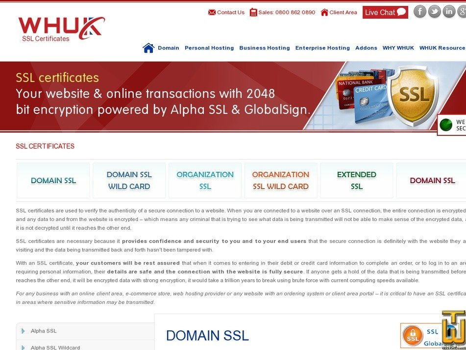 Alpha Ssl From Webhosting 38485 On Ssl Certificates