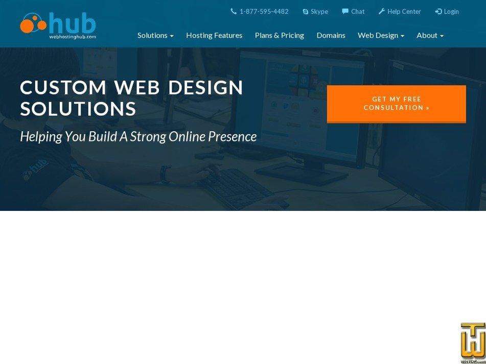 Screenshot of Custom Web Design Solutions from webhostinghub.com