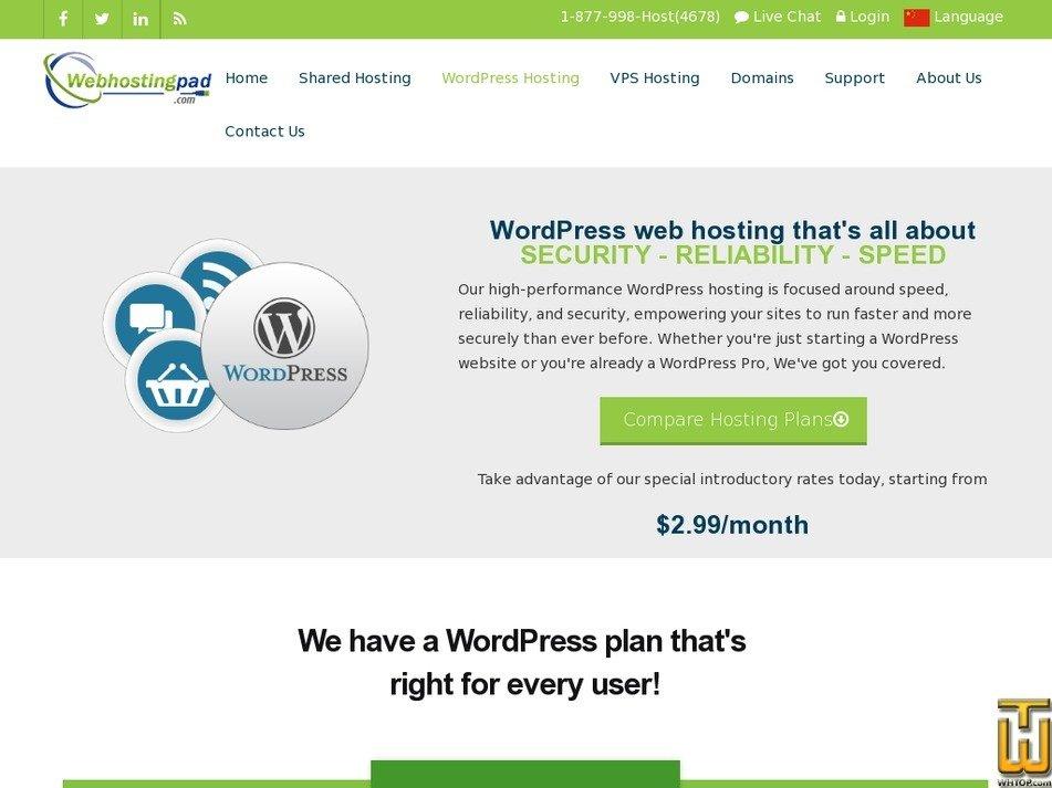 Screenshot of WP Basic from webhostingpad.com