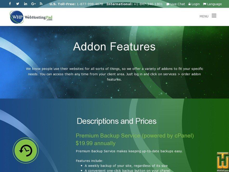 Screenshot of RapidSSL from webhostingpad.com