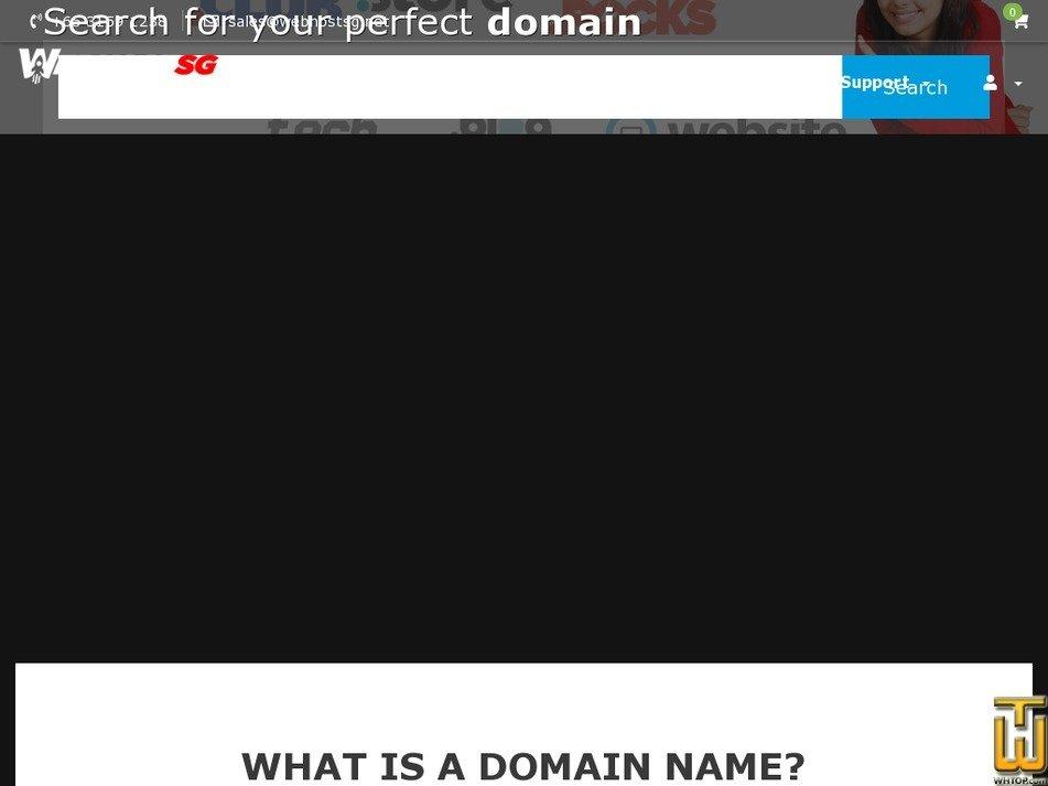 screenshot of .com from webhostsg.net
