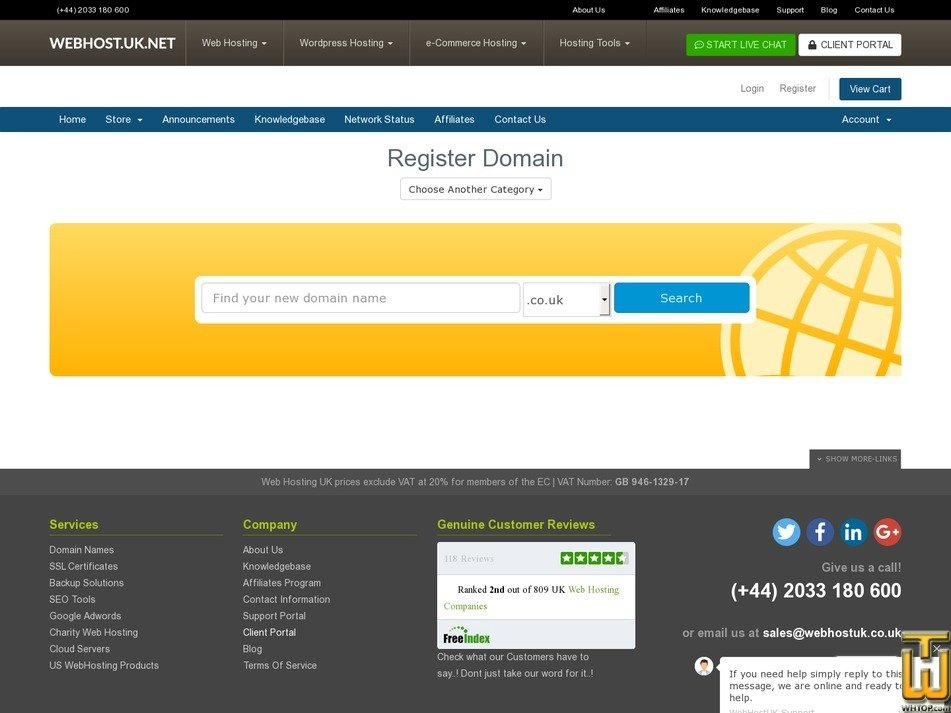 screenshot of .com from webhostuk.co.uk