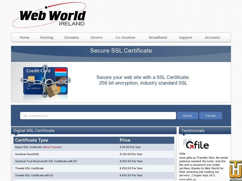Verisign Ssl Certificate Webworld 65413 Eur 25000yr