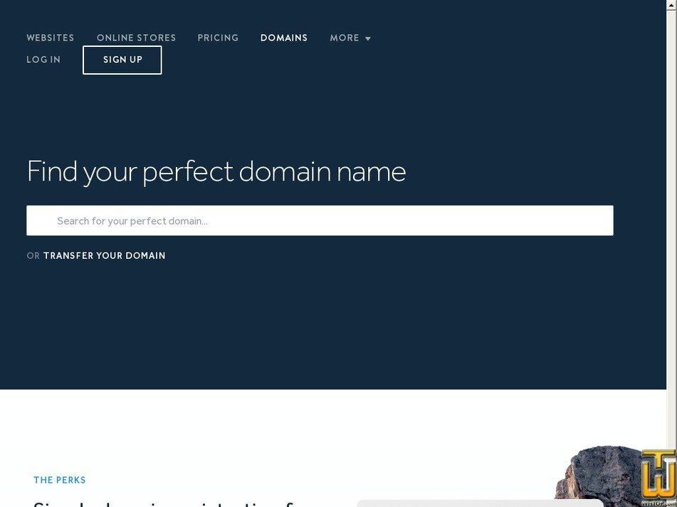 Screenshot of .com .net .org .info from weebly.com
