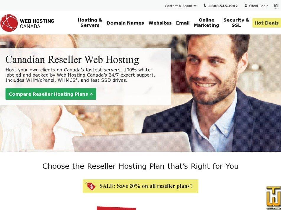 Screenshot of Reseller ENTERPRISE from whc.ca