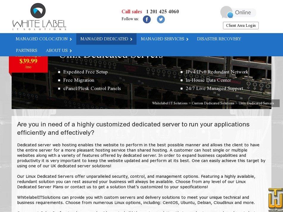 VIP Server Unix Dedicated > whitelabelitsolutions com, #46562