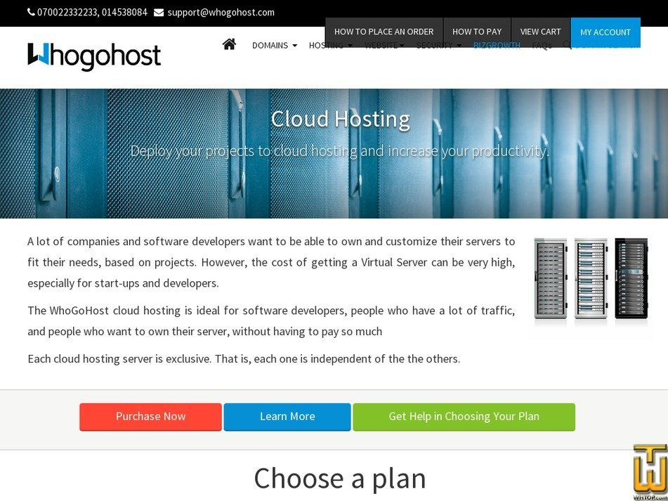 screenshot of CH Level 1 from whogohost.com