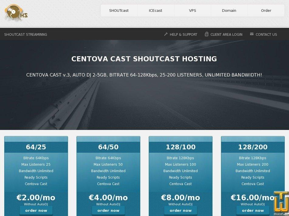 Screenshot of FREE Shoutcast 64/100 from whsh4u.com