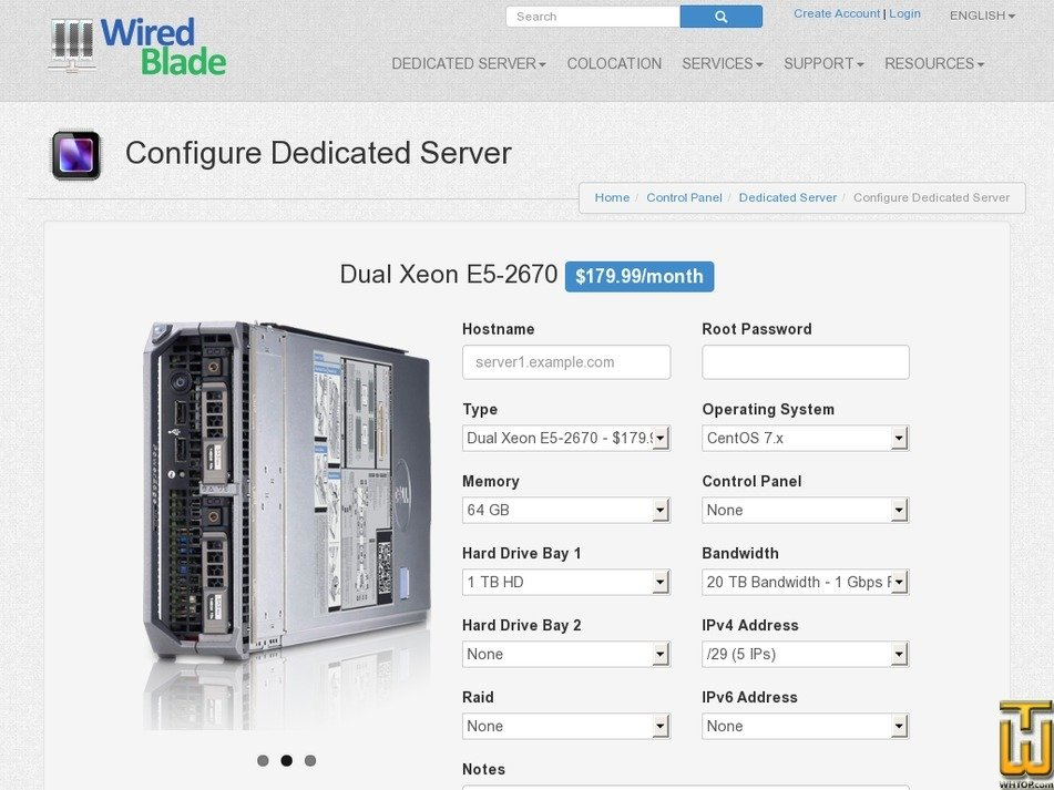 Screenshot of Dual Intel Xeon E5-2670 NEW from wiredblade.com