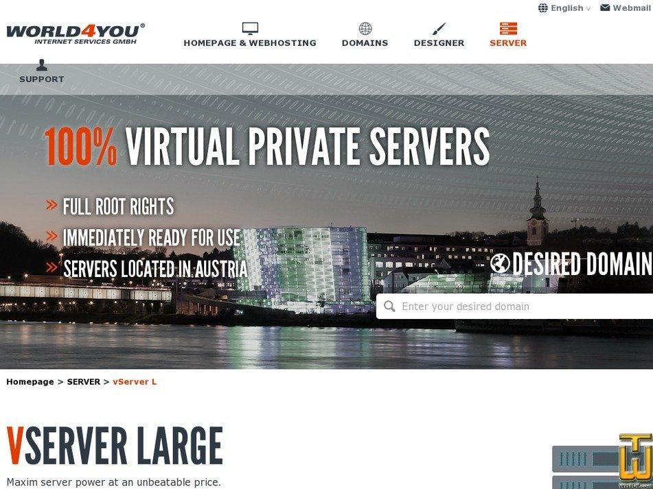 Screenshot of Vserver L from world4you.com