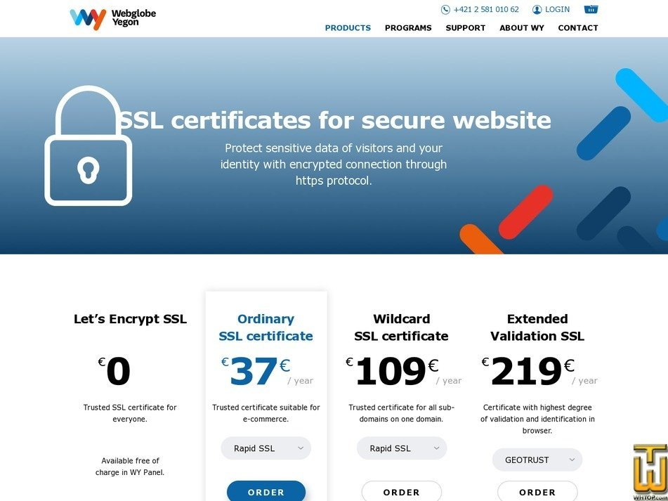 screenshot of Let's Encrypt SSL from wy.sk