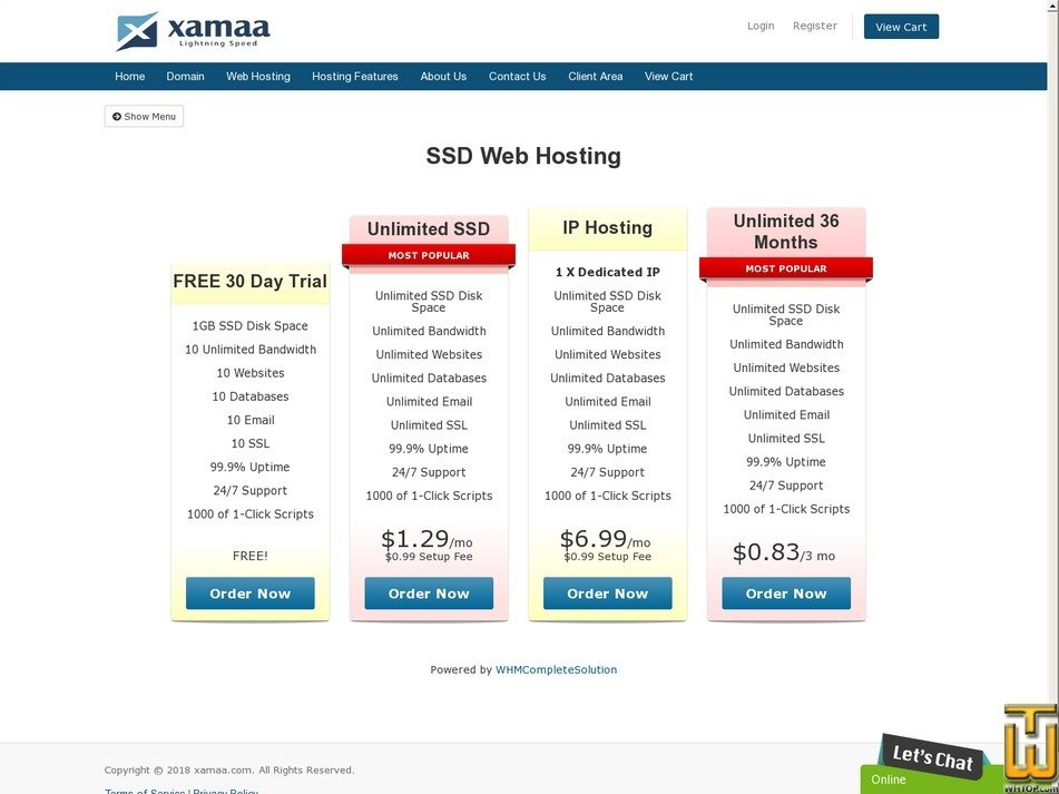 Screenshot of Unlimited SSD from xamaa.com