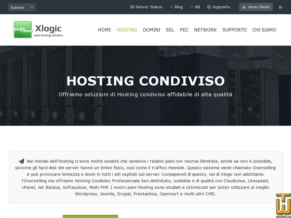 Screenshot of Hosting Mini from xlogic.org