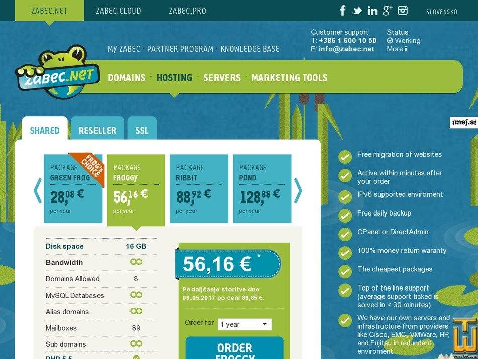 screenshot of Froggy from zabec.net