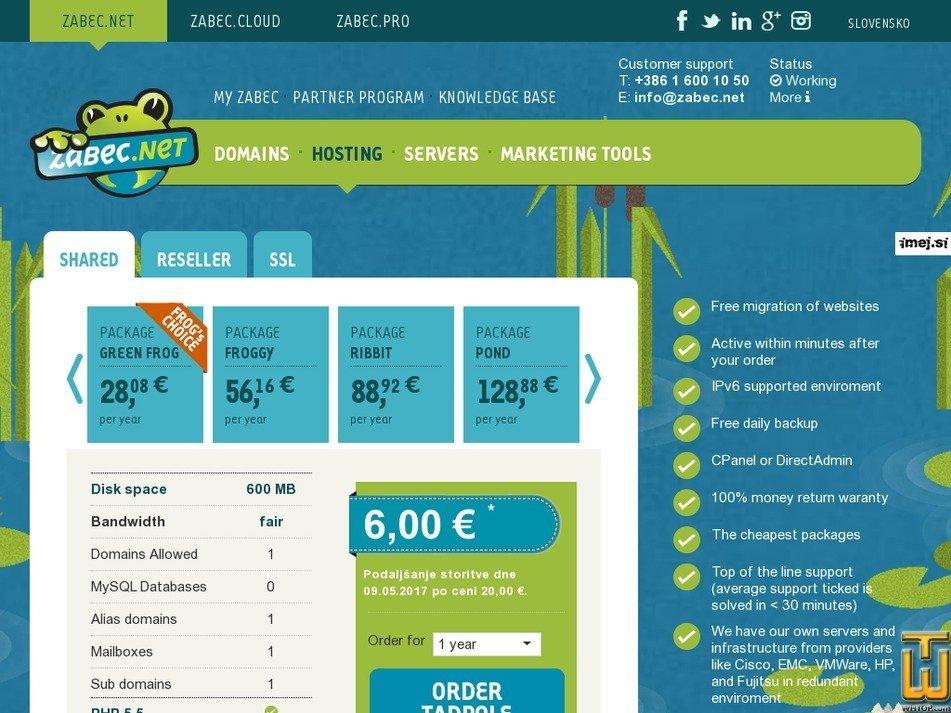 screenshot of Tadpole from zabec.net